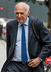 © Licensed to London News Pictures. 12/06/2017. London, UK. Liberal Democrat MP SIR VINCE CABLE seen in westminster. Over the weekend British prime minister Theresa May formed a new cabinet and continues discussions with the DUP in an attempt to form a new government. Photo credit: Ben Cawthra/LNP