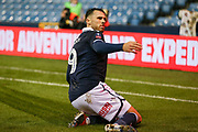 GOAL - Millwall forward Lee Gregory (9) celebrates during the The FA Cup fourth round match between Millwall and Everton at The Den, London, England on 26 January 2019.