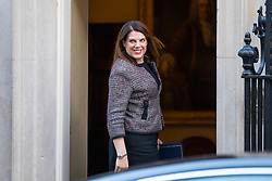 © Licensed to London News Pictures. 16/01/2018. London, UK. Minister of State for Immigration Caroline Noakes arrives on Downing Street for the weekly Cabinet meeting. Photo credit: Rob Pinney/LNP