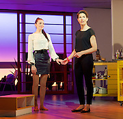 Pedro Almodovar's<br /> Women on the Verge of a nervous breakdown The Musical <br /> at the Playhouse Theatre, London, Great Britain <br /> press photocall<br /> 23rd December 2014 <br /> Seline Hizli as Marisa <br /> Tamsin Greig as Pepa <br /> Photograph by Elliott Franks <br /> Image licensed to Elliott Franks Photography Services