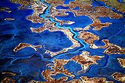 Aerial views of Wet lands in Southern Delaware Aerial views of artistic patterns in the earth.