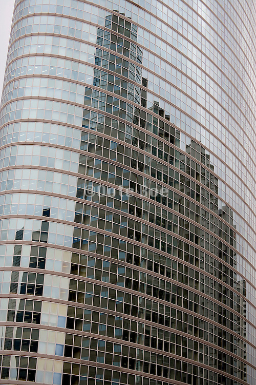 modern glass high rise building in Shinagawa Tokyo Japan