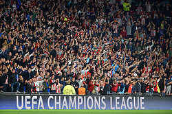 15-09-2015 NED: UEFA CL PSV - Manchester United, Eindhoven<br /> PSV kende een droomstart in de Champions League. De Eindhovenaren waren in eigen huis te sterk voor de miljoenenploeg Manchester United: 2-1 / Uefa Champions League boarding, support, publiek, item