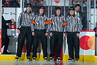 REGINA, SK - MAY 20: Ice officials at the Brandt Centre on May 20, 2018 in Regina, Canada. (Photo by Marissa Baecker/CHL Images)