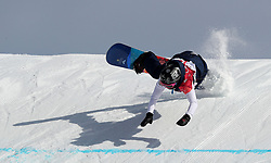 Great Britain's Aimee Fuller in the Ladies Snowboarding Big Air at the Alpensia Ski Jumping Centre during day ten of the PyeongChang 2018 Winter Olympic Games in South Korea.