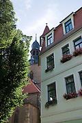 Kirche, Altstadt, Hettstedt, Harz, Sachsen-Anhalt, Deutschland | church, old town, Hettstedt, Harz, Saxony-Anhalt, Germany