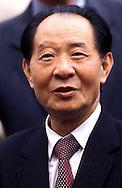 Roma 1985..Hu Yaobang segretario generale del Comitato centrale del Partito Comunista Cinese in visita in Italia..Rome 1985..Hu Yaobang General Secretary of Central Committee of the Communist Party of China on a visit to Italy.