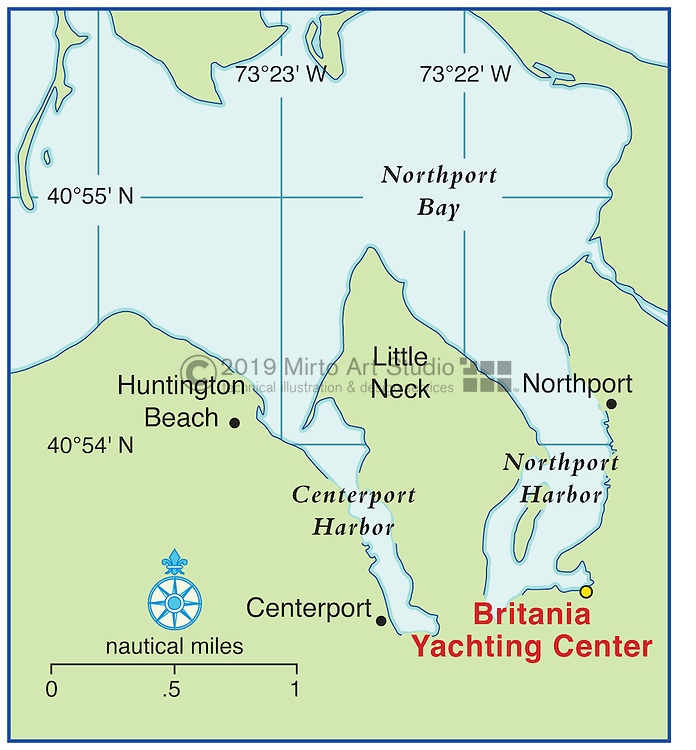 Vector map of Northport, New York marina