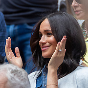 2019 US Open Tennis Tournament- Day Thirteen.    Meghan Markle, Duchess of Sussex watching Serena Williams of the United States in action against Bianca Andreescu of Canada in her team box in the Women's Singles Final on Arthur Ashe Stadium during the 2019 US Open Tennis Tournament at the USTA Billie Jean King National Tennis Center on September 7th, 2019 in Flushing, Queens, New York City.  (Photo by Tim Clayton/Corbis via Getty Images)