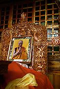Dali Lama portrait in temple - Gompa - Ley - Ladakh