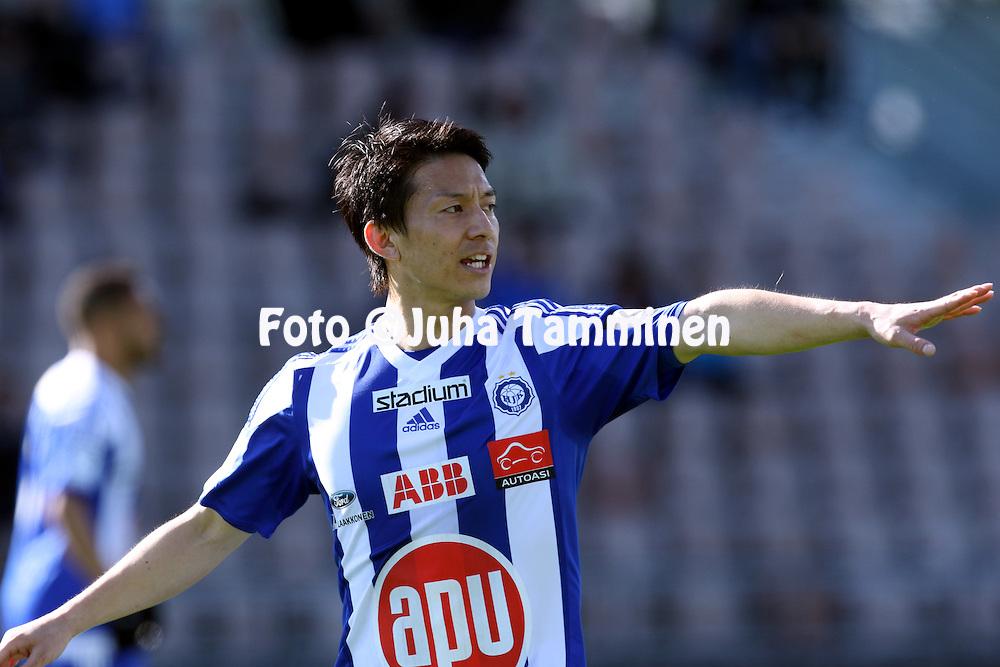 2.4.2016, Sonera Stadion, Helsinki.<br /> Veikkausliiga 2016.<br /> Helsingin Jalkapalloklubi - IFK Mariehamn.<br /> Atomu Tanaka &quot;Atom&quot; - HJK
