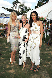 Left to right, MARISSA MONTGOMERY, OLIVIA BUCKINGHAM and SOLONI LODHA  at the Cartier International Polo at Guards Polo Club, Windsor Great Park on 27th July 2008.<br /> <br /> NON EXCLUSIVE - WORLD RIGHTS