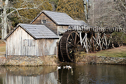 Mabry Mill, located at mile 176 of the Blue Ridge Parkway in Meadows of Dan, Virginia on January 12, 2008.