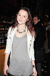 AMBER ATHERTON at a party to celebrate the 10th anniversary of the Myla lingerie brand held at Almada, 17 Berkeley Street, London on 17th November 2010.
