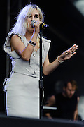 Photos of the musician Zola Jesus performing at Catalpa Music Festival on Randall's Island, NYC. July 28, 2012. Copyright © 2012 Matthew Eisman. All Rights Reserved.