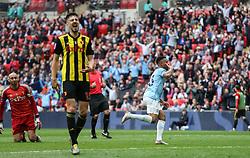 Gabriel Jesus of Manchester City celebrates scoring to make it 5-0 - Mandatory by-line: Arron Gent/JMP - 18/05/2019 - FOOTBALL - Wembley Stadium - London, England - Manchester City v Watford - Emirates FA Cup Final