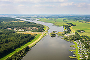 Nederland, Overijssel, Gemeente Kampen, 27-08-2013.  Drontermeer en Roggebotsluis gezien naar Kamper-eiland en Ketelmeer.<br /> luchtfoto (toeslag op standaard tarieven);<br /> aerial photo (additional fee required);<br /> copyright foto/photo Siebe Swart.