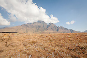 Clouds over Drakensberg Mountains, South Africa. colour