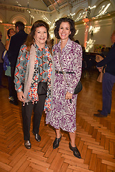Lady Ashcombe and Mollie Dent-Brocklehurst at the ASAP VIP lunch (African Solutions To African Problems) held at the RHS Lindley Hall, 80 Vincent Square, London, England. 10 October 2018.