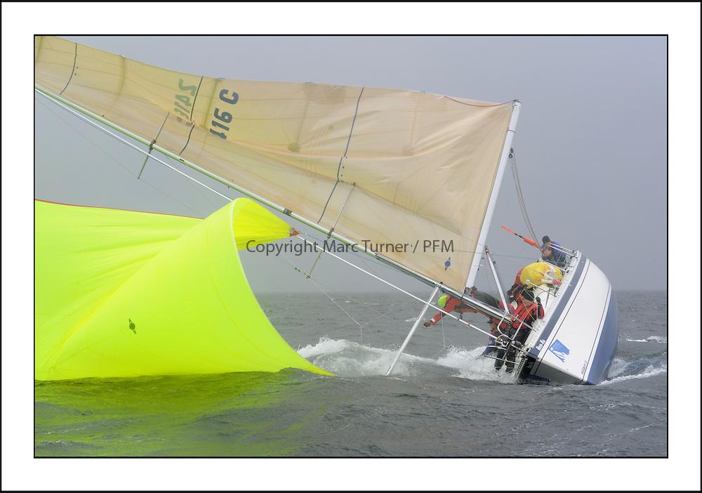 The Brewin Dolphin Scottish Series, Tarbert Loch Fyne...A big wipe out by 2416C Hoo-Ha Elan 333 FYC Rod Renton