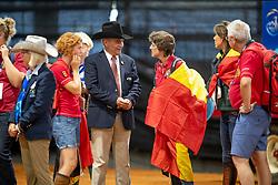 De Vos Ingmar, FEI President, Laeremans Wendy, Director Belgian Federation<br /> World Equestrian Games - Tryon 2018<br /> © Hippo Foto - Dirk Caremans<br /> 15/09/2018
