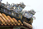 The Citadel. Forbidden Purple City, almost entirely destroyed in the Vietnam War. Dragon roof tiles.