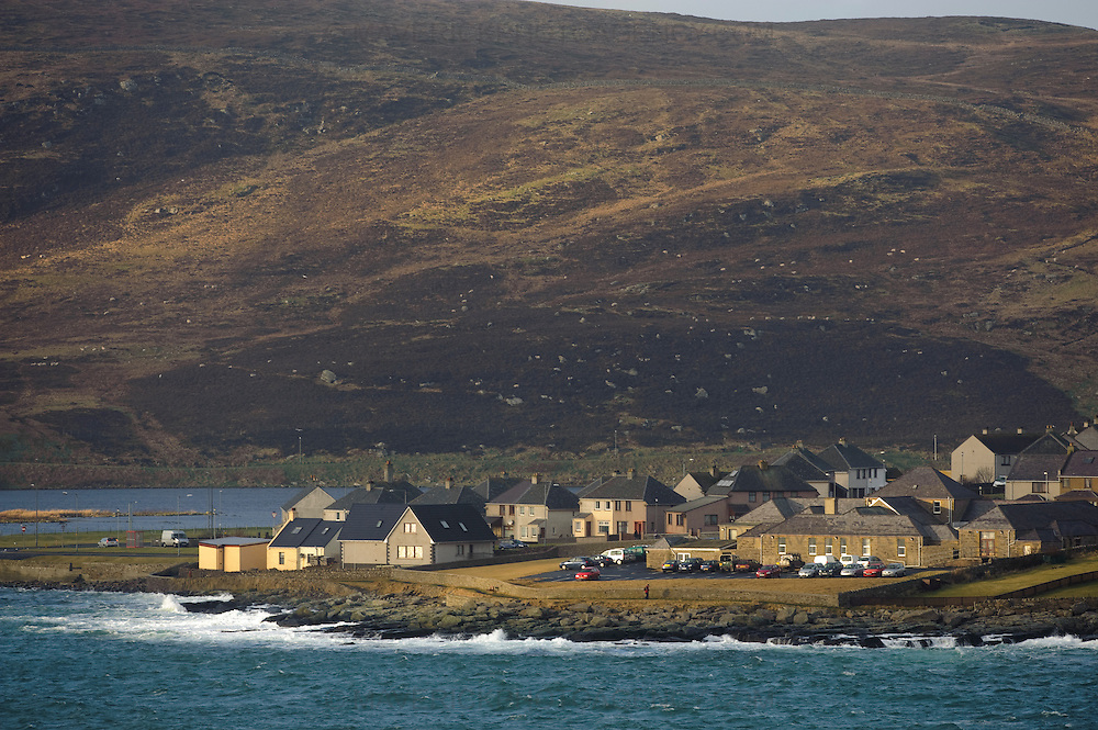 General view of Lerwick, the capital of the Shetland Islands.