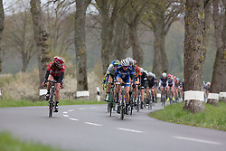 Katarzyna Niewiadoma (POL) of Rabo-Liv Cycling Team leads the first, 106.9km road race stage of Elsy Jacobs - a stage race in Luxembourg, in Steinfort on April 30, 2016