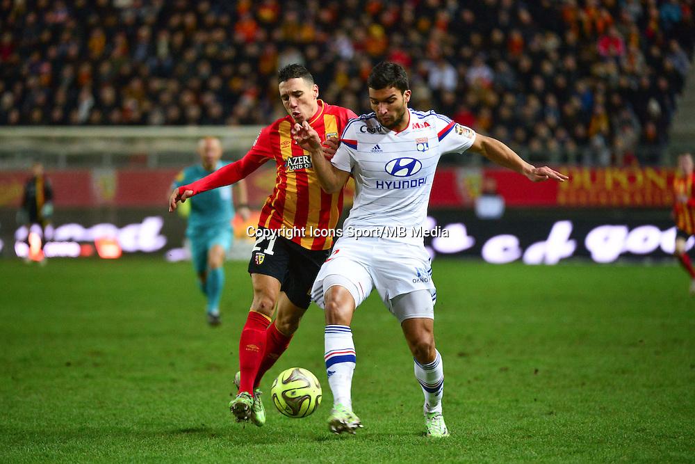 Alharbi EL JADEYAOUI / Lindsay ROSE - 17.01.2015 - Lens / Lyon - 21eme journee de Ligue 1 <br />Photo : Dave Winter / Icon Sport