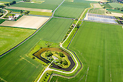 Nederland, Zuid-Holland, Brielle, 10-06-2015; Het Fort Penserdijk, onderdeel van de Stelling van de Monding der Maas en het Haringvliet (Stelling van Voorne). <br /> <br /> luchtfoto (toeslag op standard tarieven);<br /> aerial photo (additional fee required);<br /> copyright foto/photo Siebe Swart