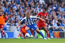 Korey Smith of Bristol City puts Steve Sidwell of Brighton & Hove Albion under pressure - Mandatory by-line: Jason Brown/JMP - 29/04/2017 - FOOTBALL - Amex Stadium - Brighton, England - Brighton and Hove Albion v Bristol City - Sky Bet Championship