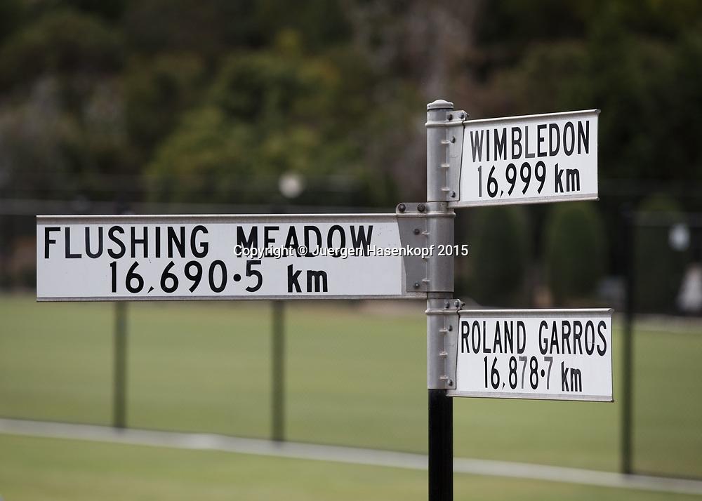 Kooyong Lawn Tennis Club existiert seit 1892 in Kooyong<br /> Wegweiser zu allen Grand Slam Turnieren.