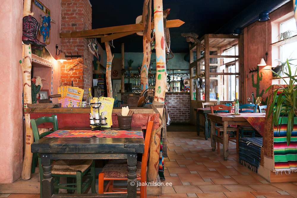 Tex Mex Mexican Restaurant In Paumlrnu Estonia Decorated Striped