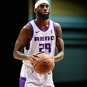 Reno Bighorns Forward JAKARR SAMPSON (29) shoots a free-throw during the NBA G-League Basketball game between the Reno Bighorns and the Raptors 905 at the Reno Events Center in Reno, Nevada.