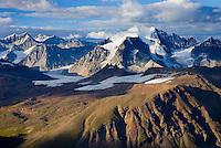 Aerial view of the Saint Elias Range, Wrangell-St. Elias National Park Alaska