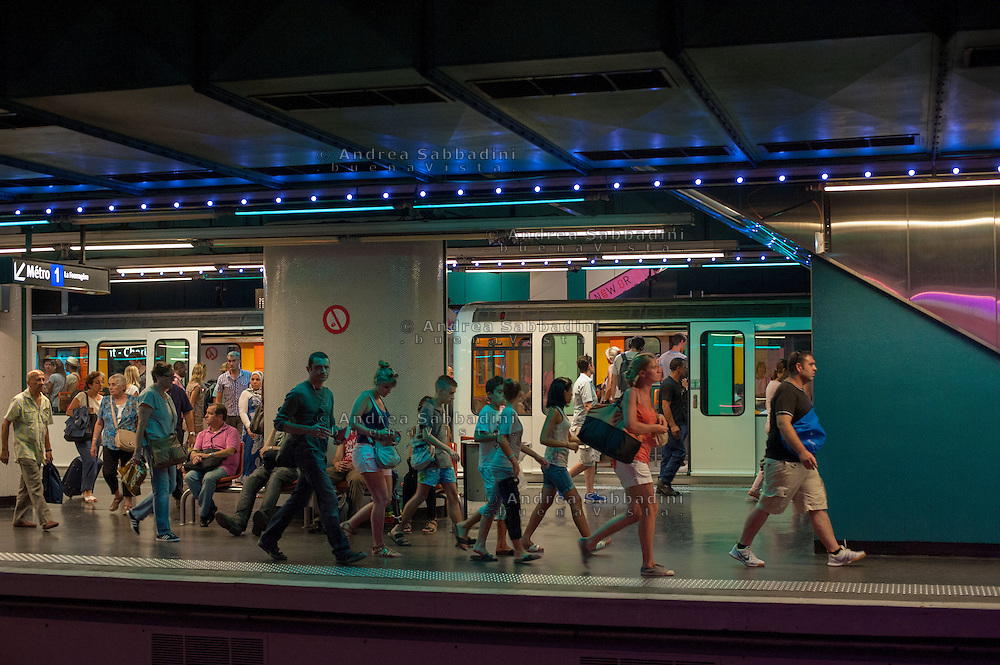 Marsiglia, Francia 22/08/2013: Metropolitana - Subway