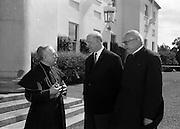 15/7/1964<br /> 07/15/1964<br /> 15 July 1964<br /> <br /> President Éamon de Valera and Cardinal Browne Aras an Uachtarain