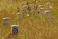 Little Bighorn Battlefield National Monument, Montana, Last Stand Hill, Custer marker