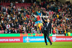 March 22, 2019 - Lisbon, Portugal - Andriy Shevchenko, Ukrainian national team coach, thanks the supporters at the end of the match during the Qualifiers - Group B to Euro 2020 football match between Portugal vs Ukraine. (Credit Image: © Henrique Casinhas/SOPA Images via ZUMA Wire)
