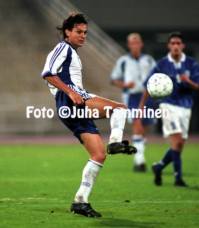 07.10.2000, Olympic Stadium, Athens, Greece. .FIFA World Cup 2002 Qualifying Match, Greece v Finland..Jari Litmanen - Finland.©JUHA TAMMINEN
