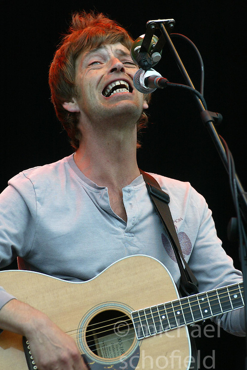 Lee Mavers of the The La's playing the Radio 1/NME Stage on Saturday 9 July, 2005 at the two-day T in the Park festival, at Balado, Kinross-shire, Scotland..