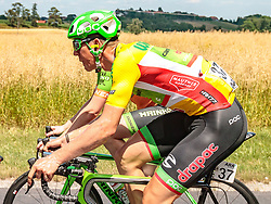 05.07.2017, Altheim, AUT, Ö-Tour, Österreich Radrundfahrt 2017, 3. Etappe von Wieselburg nach Altheim (226,2km), im Bild Sep Vanmarcke (BEL, Cannondale Drapac Professional Cycling Team) // Sep Vanmarcke (BEL Cannondale Drapac Professional Cycling Team) during the 3rd stage from Wieselburg to Altheim (199,6km) of 2017 Tour of Austria. Altheim, Austria on 2017/07/05. EXPA Pictures © 2017, PhotoCredit: EXPA/ JFK