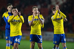 January 26, 2019 - Rotherham, England, United Kingdom - Kalvin Phillips and his teammates celebrate winning the Sky Bet Championship match between Rotherham United and Leeds United at the New York Stadium, Rotherham on Saturday 26th January 2019. (Credit Image: © Mark Fletcher/NurPhoto via ZUMA Press)