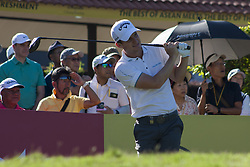 February 3, 2018 - Shah Alam, Kuala Lumpur, Malaysia - Chris Paisley is seen taking a shot from hole no 1 on day 3 at the Maybank Championship 2018...The Maybank Championship 2018 golf event is being hosted on 1st to 4th February at Saujana Golf & Country Club. (Credit Image: © Faris Hadziq/SOPA via ZUMA Wire)