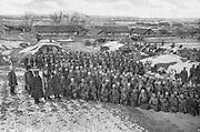 Russo-Japanese War 1904-1905:  Cossacks of the Krasnogarsk Regiment being drilled.
