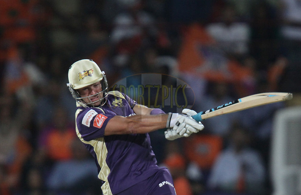 Mark Boucher of Kolkata Knight Riders plays a shot during match 45 of the Indian Premier League ( IPL ) Season 4 between the Kochi Tuskers Kerala and the Kolkata Knight Riders held at the Kallor Jawaharlal Nehru International Stadium in Kochi, Kerala  India on the 5th May  2011..Photo by Parth Sanyal/BCCI/SPORTZPICS