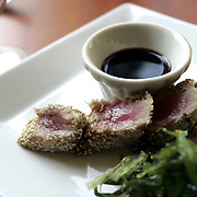 White Plains, NY / 2007 - Sesame seared tuna, with seaweed salad and citrus ponzu at 80 West restaurant located in the Renaissance Westchester Hotel. ( Mike Roy / The Journal News )