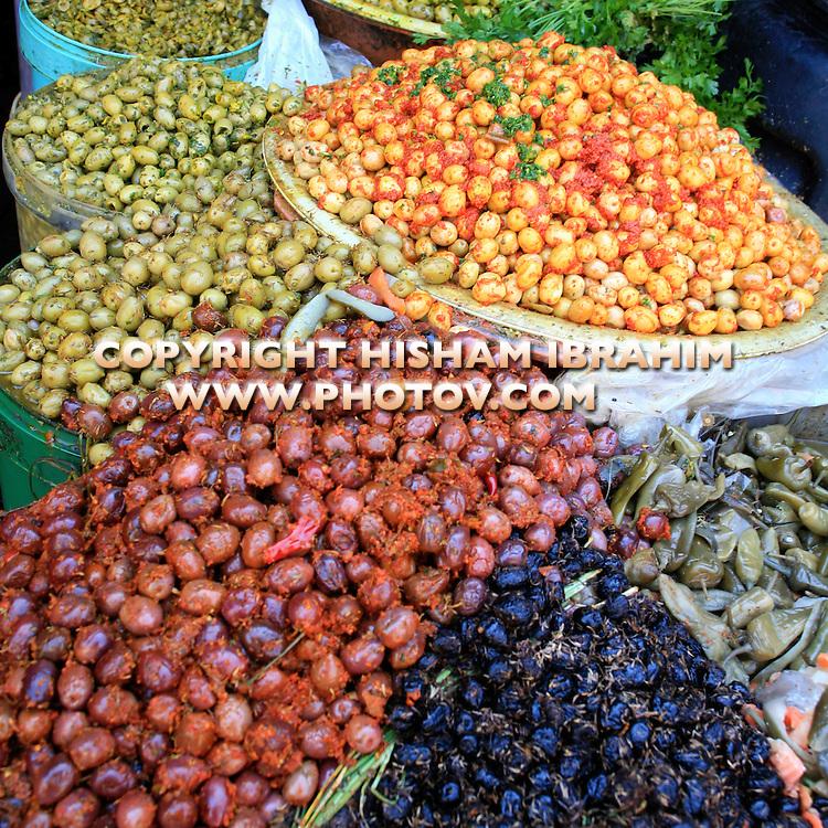 """Olive Stall - Quartier Habous """"New Medina"""", Casablanca, Morocco"""