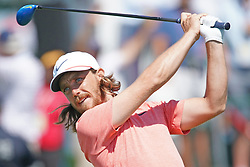 June 16, 2018 - Southampton, NY, USA - Tommy Fleetwood hits from the 1st tee during the third round of the 2018 U.S. Open at Shinnecock Hills Country Club in Southampton, N.Y., on Saturday, June 16, 2018. (Credit Image: © Brian Ciancio/TNS via ZUMA Wire)