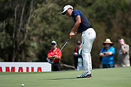 Takumi Kanaya (a) (JPN) putting at Day 1 of The Emirates Australian Open Golf at The Lakes Golf Club in Sydney, Australia.
